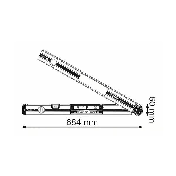 Medidor de ângulos digital GAM 270 MFL BOSCH