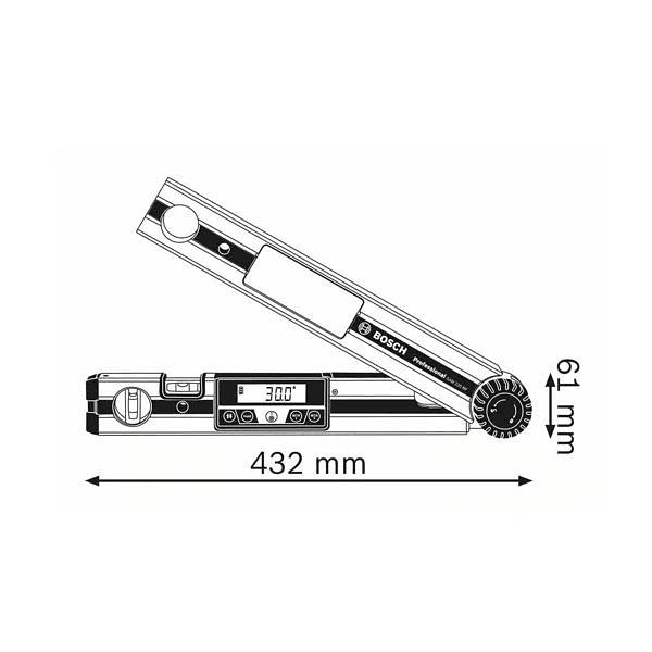 Medidor de ângulos digital GAM 220 MF BOSCH