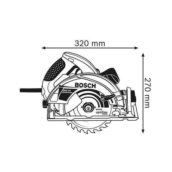Serra circular manual GKS 65 BOSCH