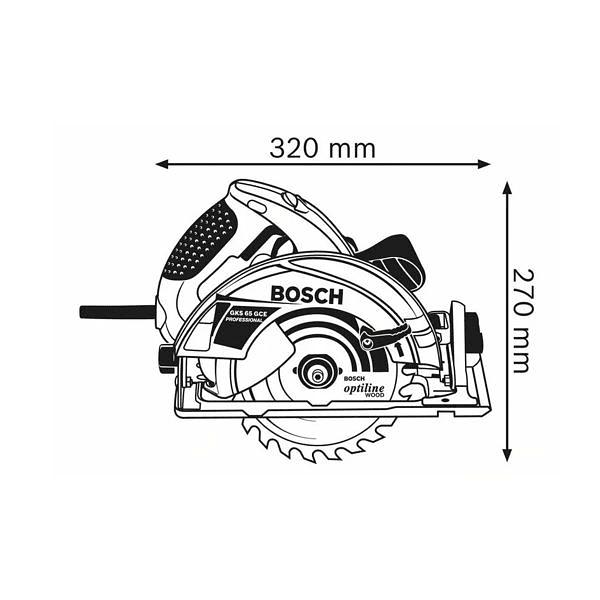 Serra circular manual GKS 65 GCE BOSCH