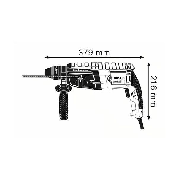 Martelo perfurador com SDS plus GBH 2-28 BOSCH