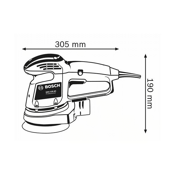 Lixadora excêntrica GEX 34-125 BOSCH