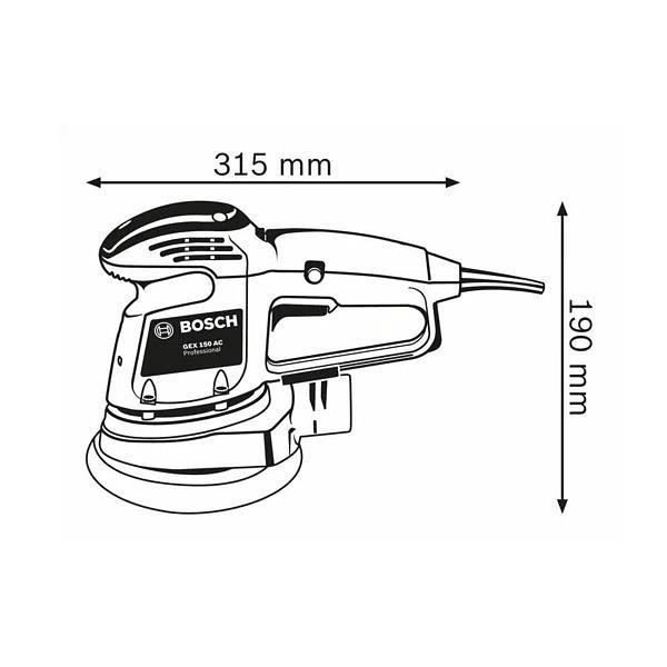 Lixadora excêntrica GEX 34-150 BOSCH