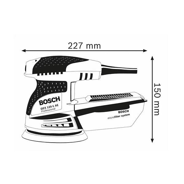 Lixadora excêntrica GEX 125-1 AE BOSCH