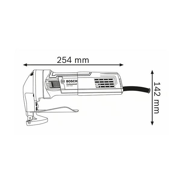 Tesoura de corte chapa GSC 75-16 BOSCH