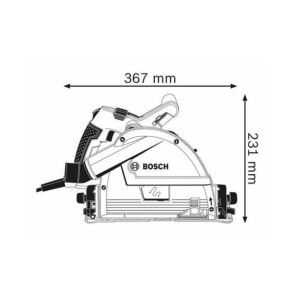 Serra de imersão GKT 55 GCE + Mala L-BOXX BOSCH