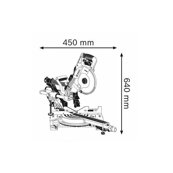 Serra de esquadria GCM 8 SDE BOSCH