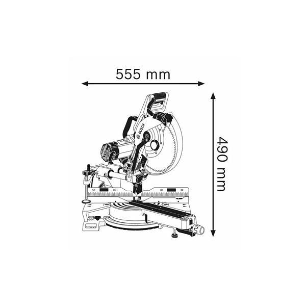 Serra de esquadria GCM 350-254 BOSCH