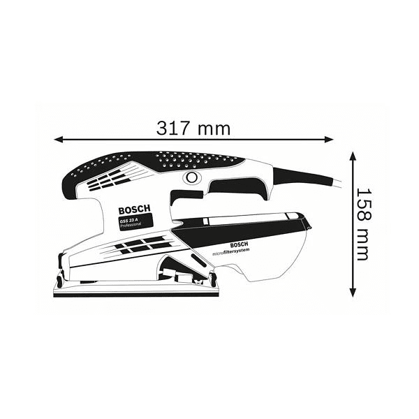 Lixadora vibratória GSS 23 A BOSCH