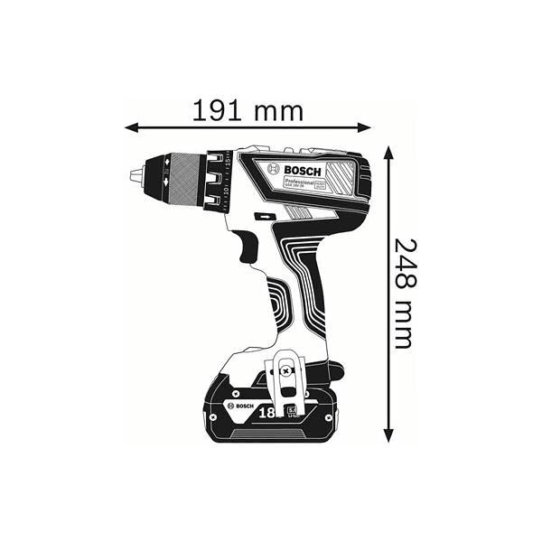 Aparafusadora/berbequim sem fio GSR 18V-28 BOSCH