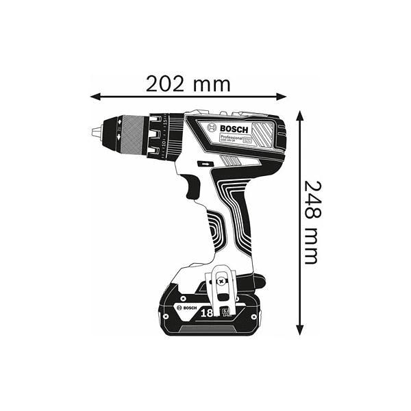 Aparafusadora/Berbequim com percussão sem fio GSB 18V-28 BOSCH