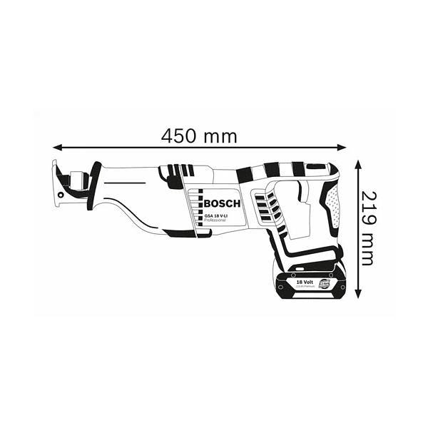 Serra sabre sem fio GSA 18 V-LI BOSCH