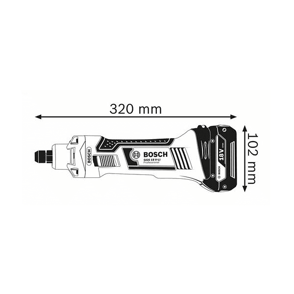 Retificadora direita sem fio GGS 18 V-LI BOSCH