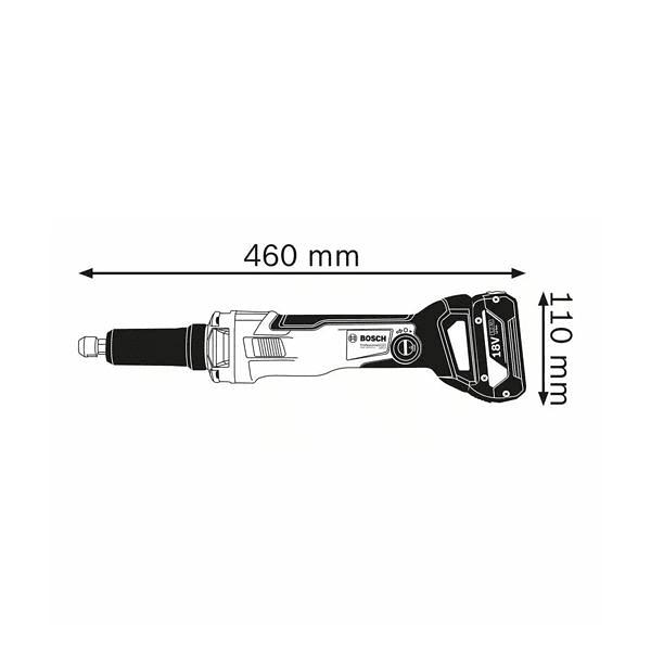 Retificadora direita sem fio GGS 18V-23 PLC BOSCH