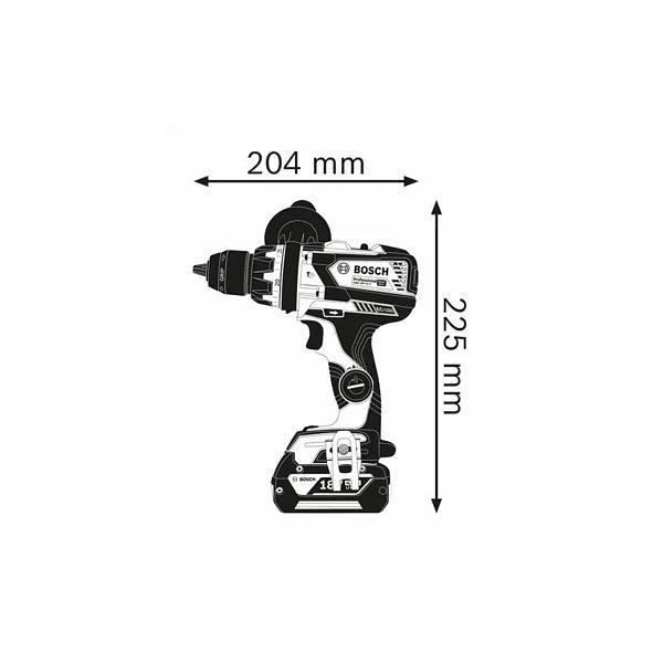Berbequim com percussão sem fio GSB 18V-110 C BOSCH
