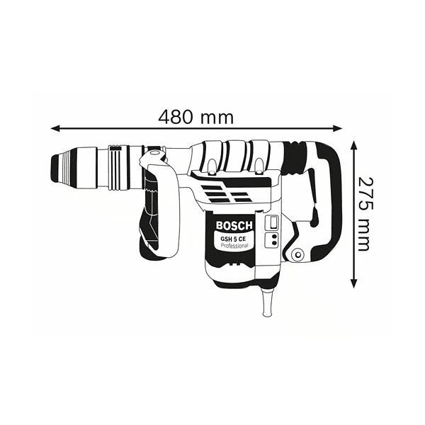 Martelo demolidor SDS max GSH 5 CE BOSCH
