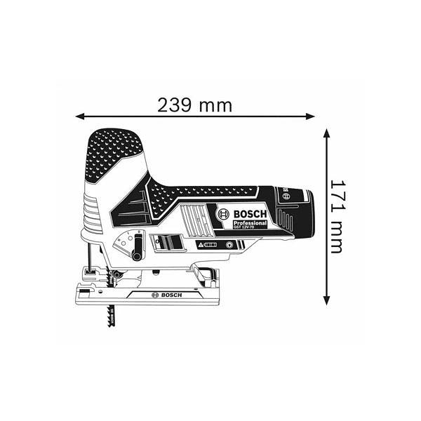 Serra vertical Tico-Tico sem fio GST 12V-70 BOSCH