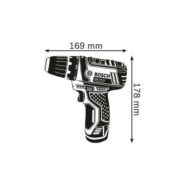 Aparafusadora/berbequim sem fio GSR 12V-15 BOSCH
