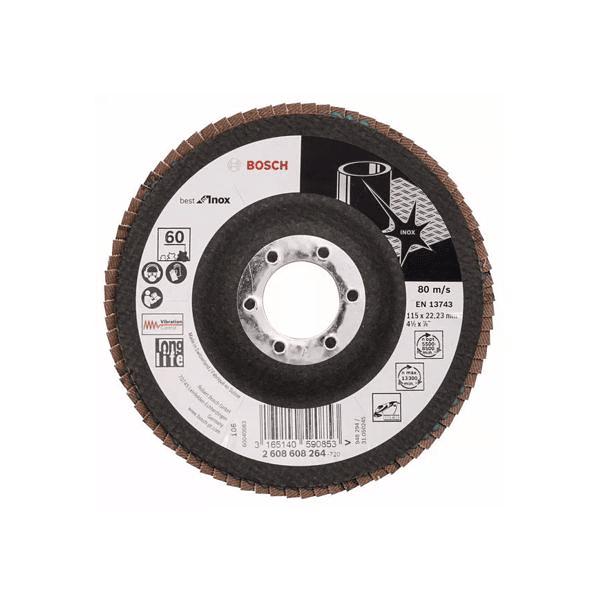 Disco de lixa Lamelas 115mm X581 Best for Inox BOSCH