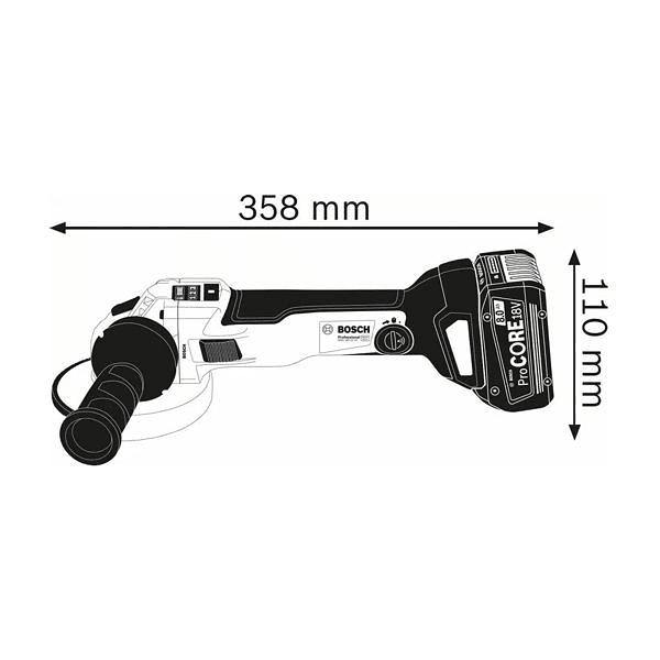 Rebarbadora sem fio com regulador de velocidade GWS 18V-10 SC (125mm) BOSCH