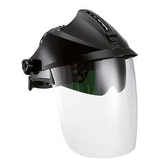 Protetor facial transparente DIN5 com óculos internos 1F SUPERNOVA SAFETOP