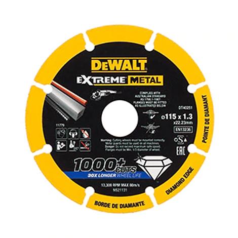 Disco de corte com borda de diamante Extreme Metal 115mm DEWALT
