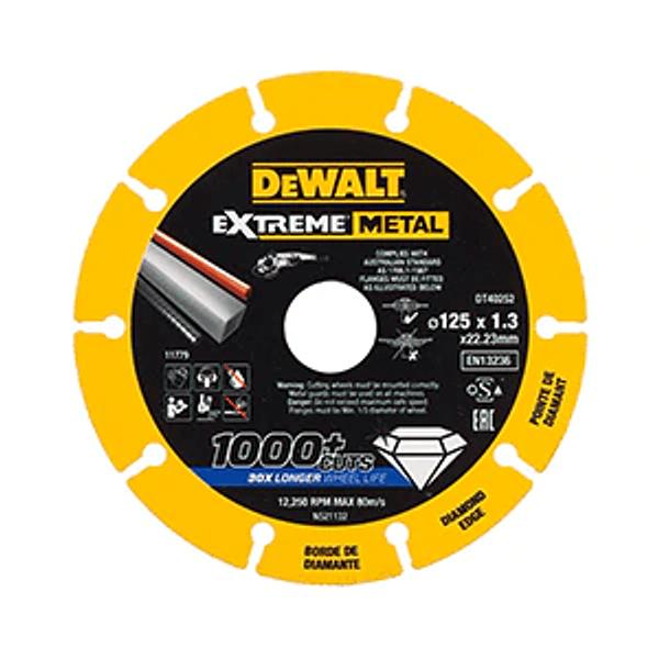 Disco de corte com borda de diamante Extreme Metal 125mm DEWALT