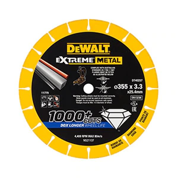 Disco de corte com borda de diamante Extreme Metal 355mm DEWALT