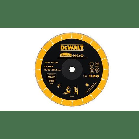 Disco de diamante para serra corte rápido Extreme Metal 355mm DEWALT