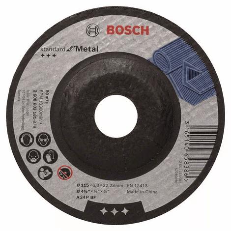 Disco de rebarbar 115mm Standard para Metal BOSCH (5 uni.)