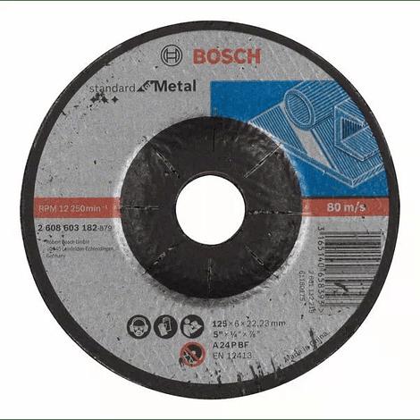 Disco de rebarbar 125mm Standard para Metal BOSCH (5 uni.)