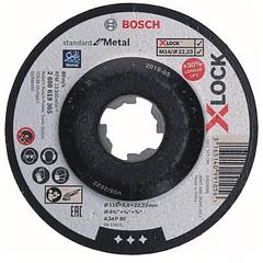 Disco de rebarbar X-LOCK 115mm Standard para Metal BOSCH (5 Un.)
