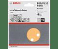 6 un. Folha de Lixa 125mm C470 Best for Wood and Paint BOSCH