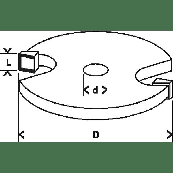 Fresa de ranhura interior 5mm Standard For Wood BOSCH