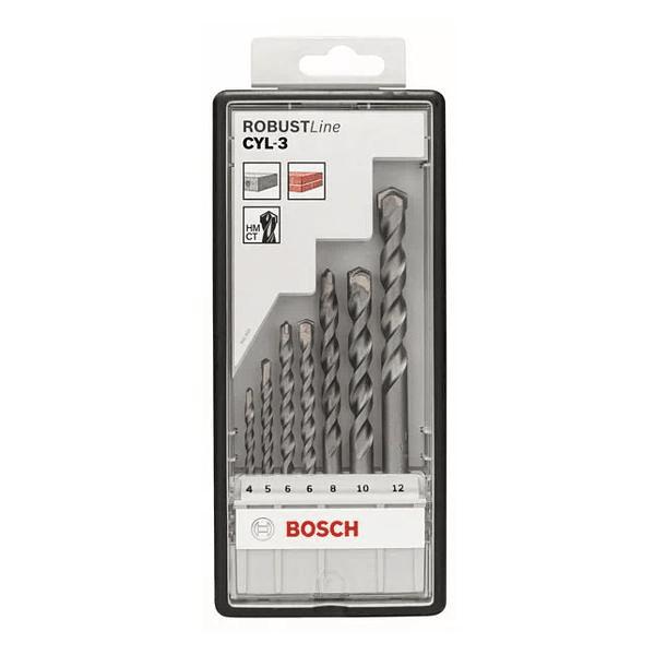 Conjunto de 7 brocas para betão Robust Line CYL-3 BOSCH