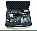 Conjunto de chaves e pontas de aparafusar em INOX WERA
