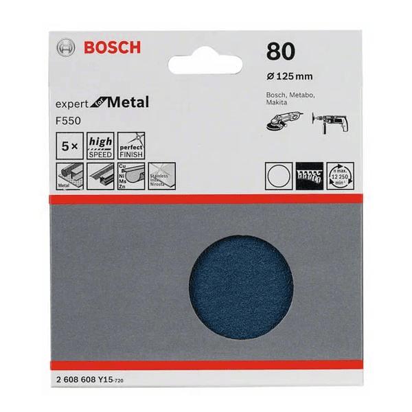 Disco de lixa 125mm Expert for Metal com velcro BOSCH (25un.)