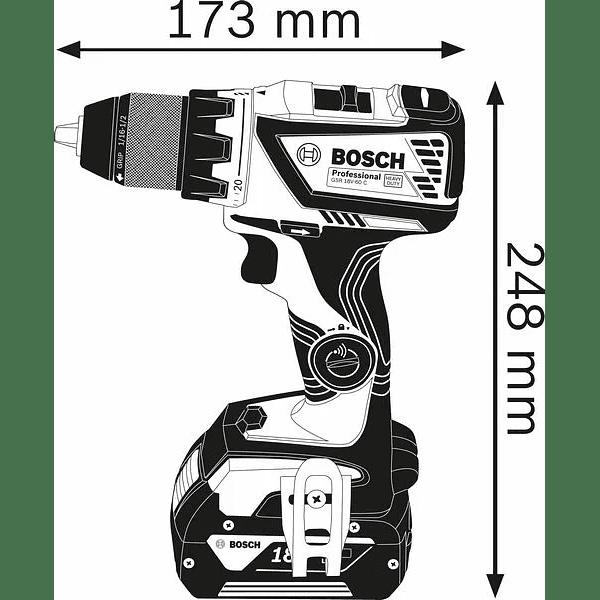 Aparafusadora Berbequim sem escovas 18V GSR 18V-60 C BOSCH