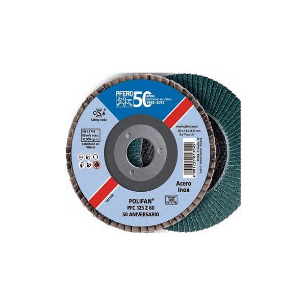 Disco de lixa Lamelas 125mm POLIFAN PFC PFERD