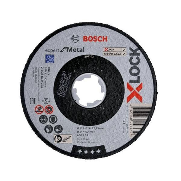 Disco de Corte 125mm X-LOCK EXPERT FOR METAL BOSCH (5 Un.)