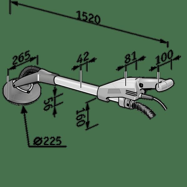 Lixadora de paredes e tetos (Girafa) GE5 FLEX