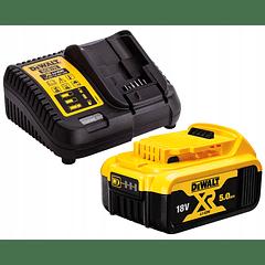 Kit 1 Bateria carril Li-Lon XR 18V - 5,0 Ah DCB184 + Carregador DCB115 DEWALT