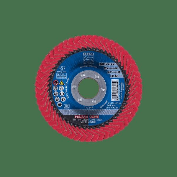 Disco de lixa Lamelas 125mm POLIFAN CURVE PREMIUM SGP AÇO + INOX PFERD