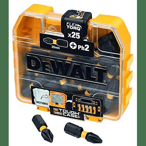 Jogo de 25 Bits PH2 x 25 mm  DT70555T FLEXTORQ DEWALT
