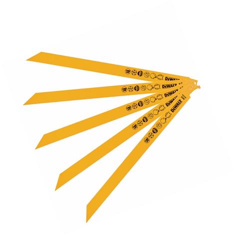Laminas de Serra Sabre Bi-metal DT2355 5 Uni DEWALT