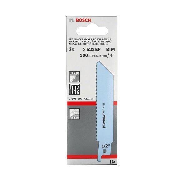 Lamina de Serra Sabre S 522 EF Flexible for Metal BOSCH (2 un.)