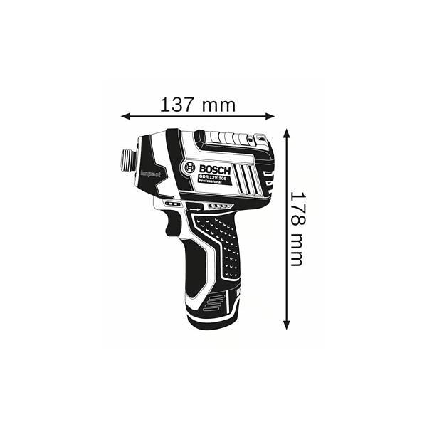Aparafusadora de impacto sem fio GDR 12V-105 + 2 Baterias 12V 2.0Ah BOSCH