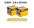 Kit de Maquina de pregar / Pregadora de Betão XR18V DCN890P2  + 5.025 Pregos DCN890 DEWALT
