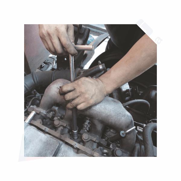 Kit de Fresas de Descarbonização de Injetores TOPTUL