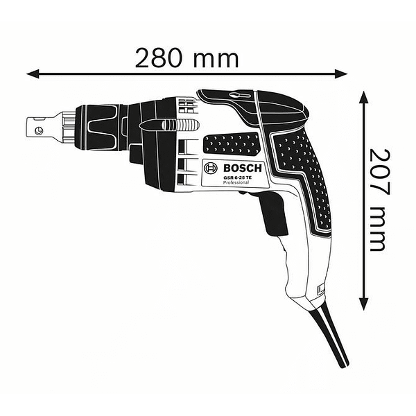 Aparafusadora para chapa GSR 6-25 TE BOSCH
